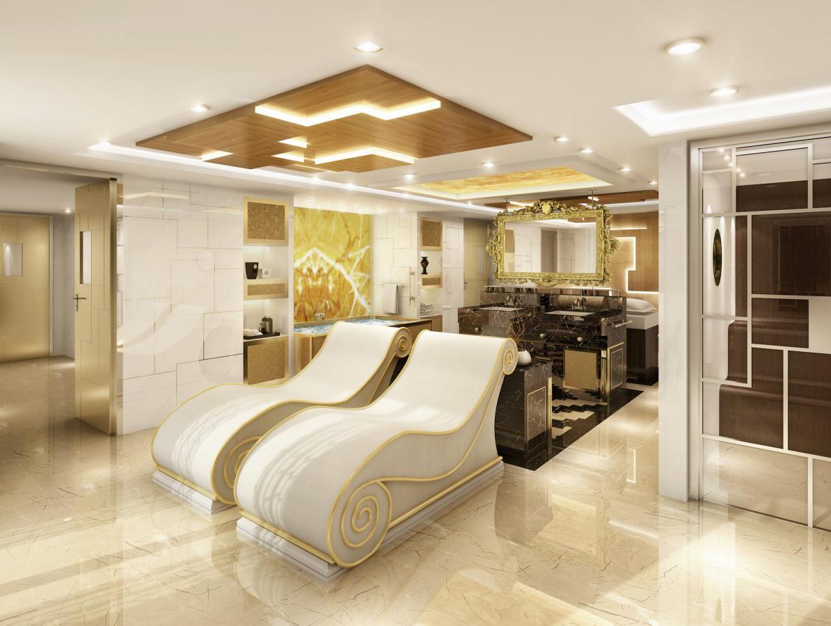 Мраморная ванная каюты Regent Suite