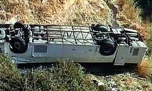 В Перу автобус упал в пропасть