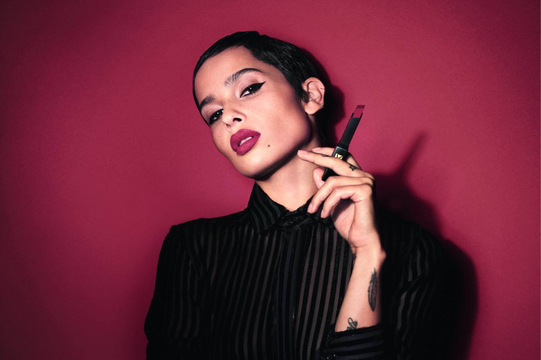 Зои Кравиц в рекламной кампании помады The Slim Velvet Radical, The Slim, YSL Beauté
