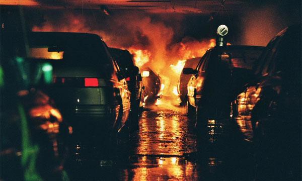 Ночью в Лефортовском тоннеле сгорела иномарка