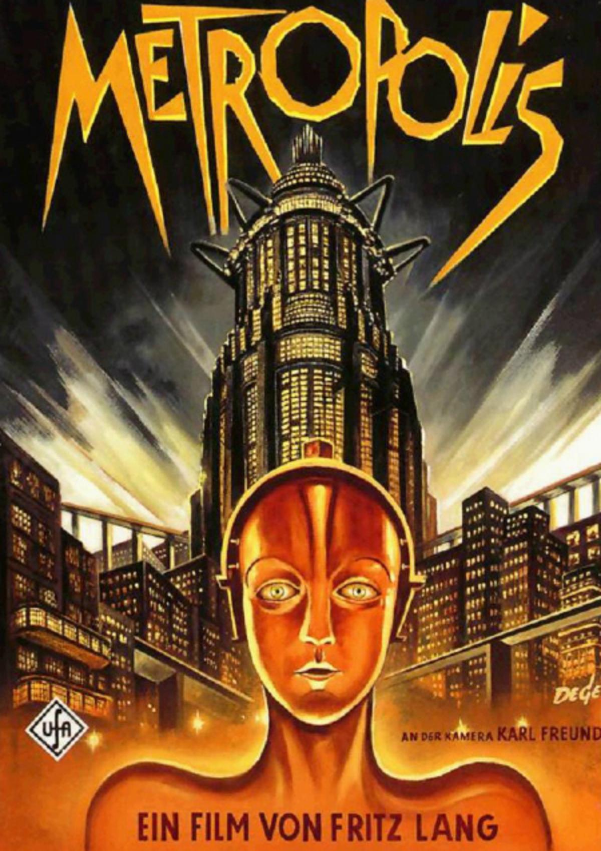 Афиша к фильму «Метрополис» 1927 года