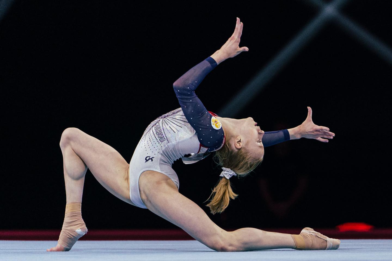 Россиянка Виктория Листунова на чемпионате Европы по спортивной гимнастике в Базеле, апрель 2021