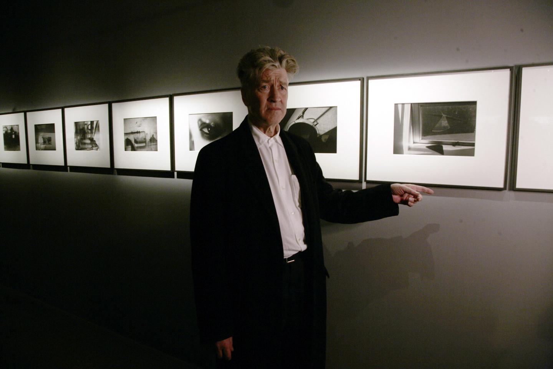 Дэвид Линч на собственной выставке в Фонде современного искусства Cartier в Париже, 2007
