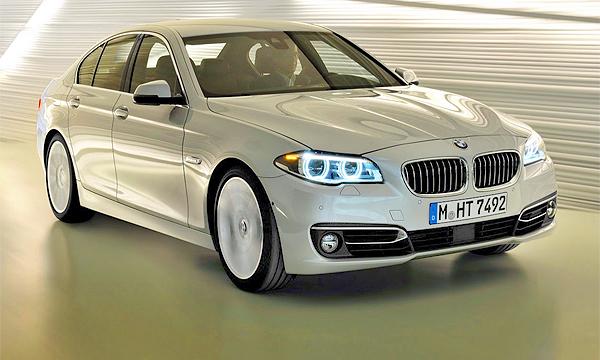 BMW объявила рублевые цены обновленной 5-Series