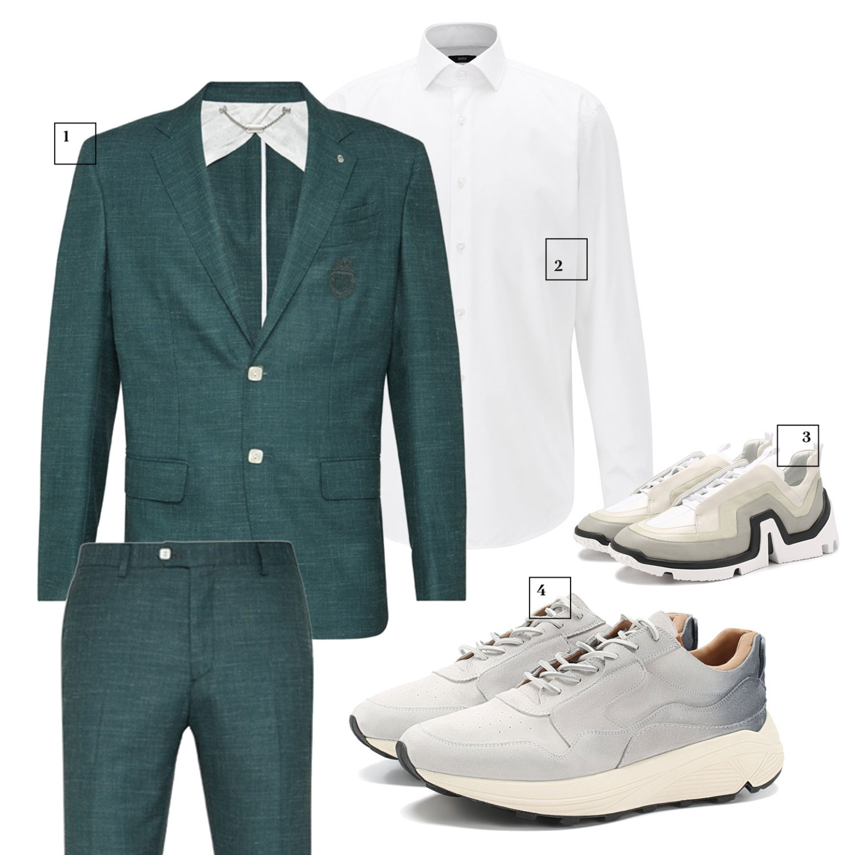 Пиджак и брюки Billionaire, 134 625 и 45 000 руб. Boss, цена по запросу Pierre Hardy (ЦУМ), 43 200 руб. Buttero (ЦУМ), 31 200 руб.