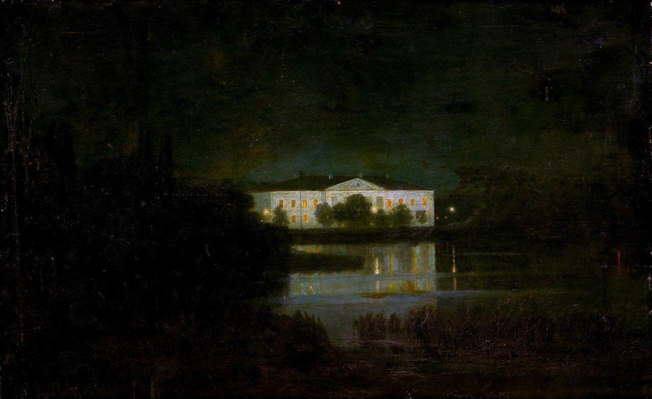 Архип Куинджи, «Поместье у озера лунной ночью»