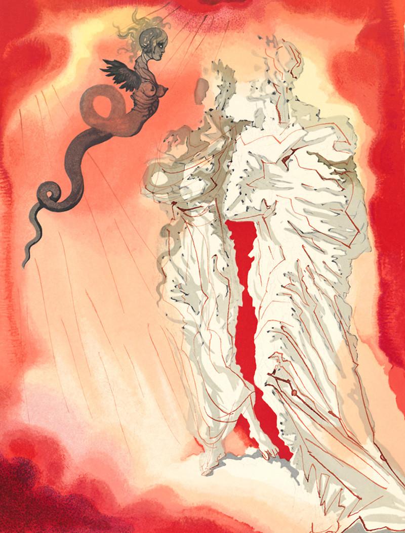 Иллюстрации Сальвадора Далик «Божественной комедии» Данте Алигьери