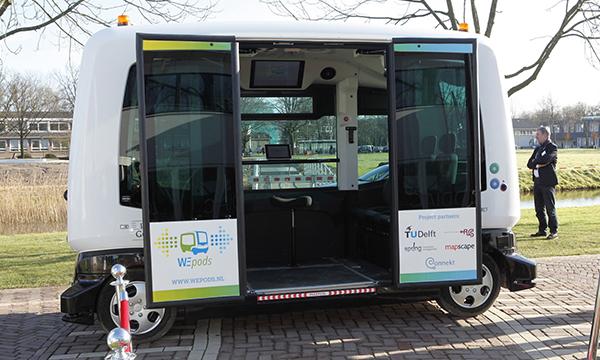 В Нидерландах появился первый в мире беспилотный автобус