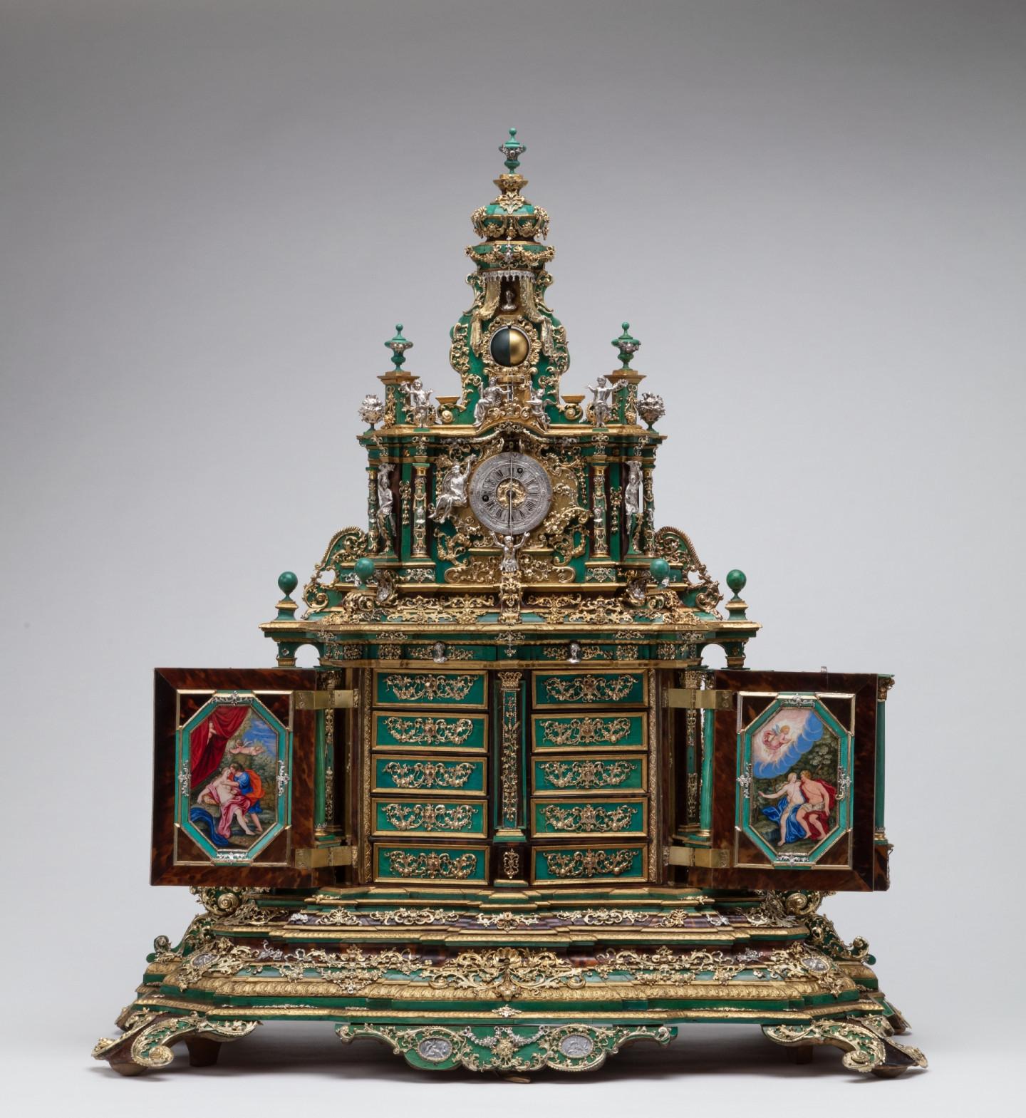 Кабинет с часами, Аугсбург, 1700-1705 годы