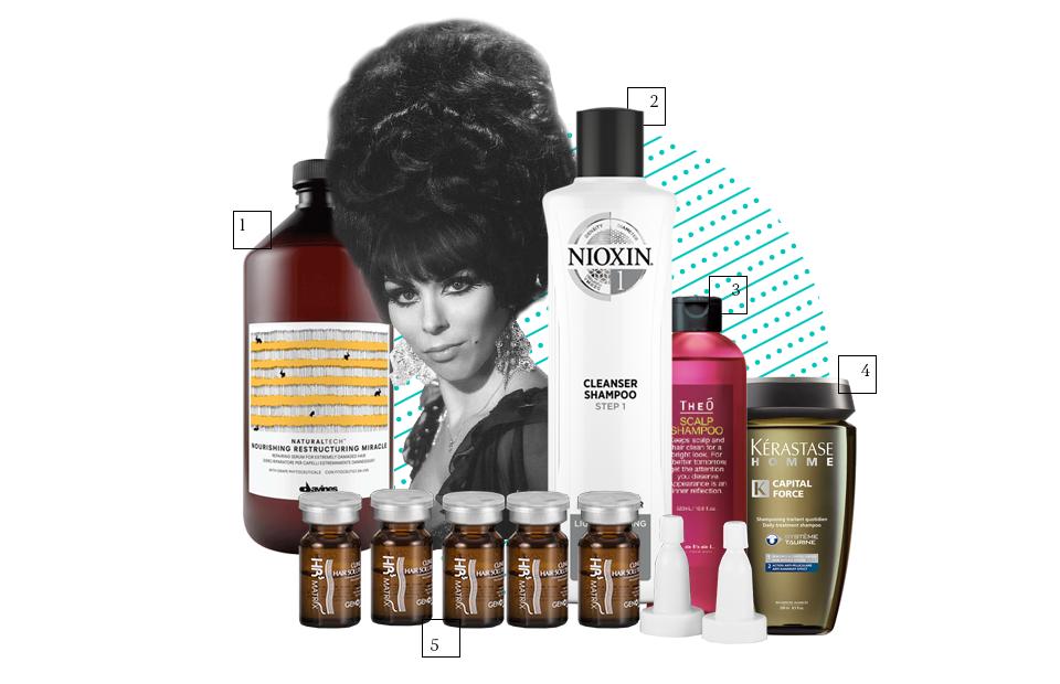 1. Маска с кератином Nourishing Restructing Miracle, Davines 2. Очищающий шампунь №1, NIOXIN 3. Многофункциональное средство для мужчин TheO Scalp, LebeL 4. Мужской шампунь-ванна Capital Force для жирных волос, Kérastase 5. Набор для ухода за волосами и кожей головы HR3 Matrix, GENOSYS