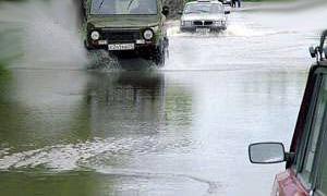 В Москве затопило Рублевское шоссе