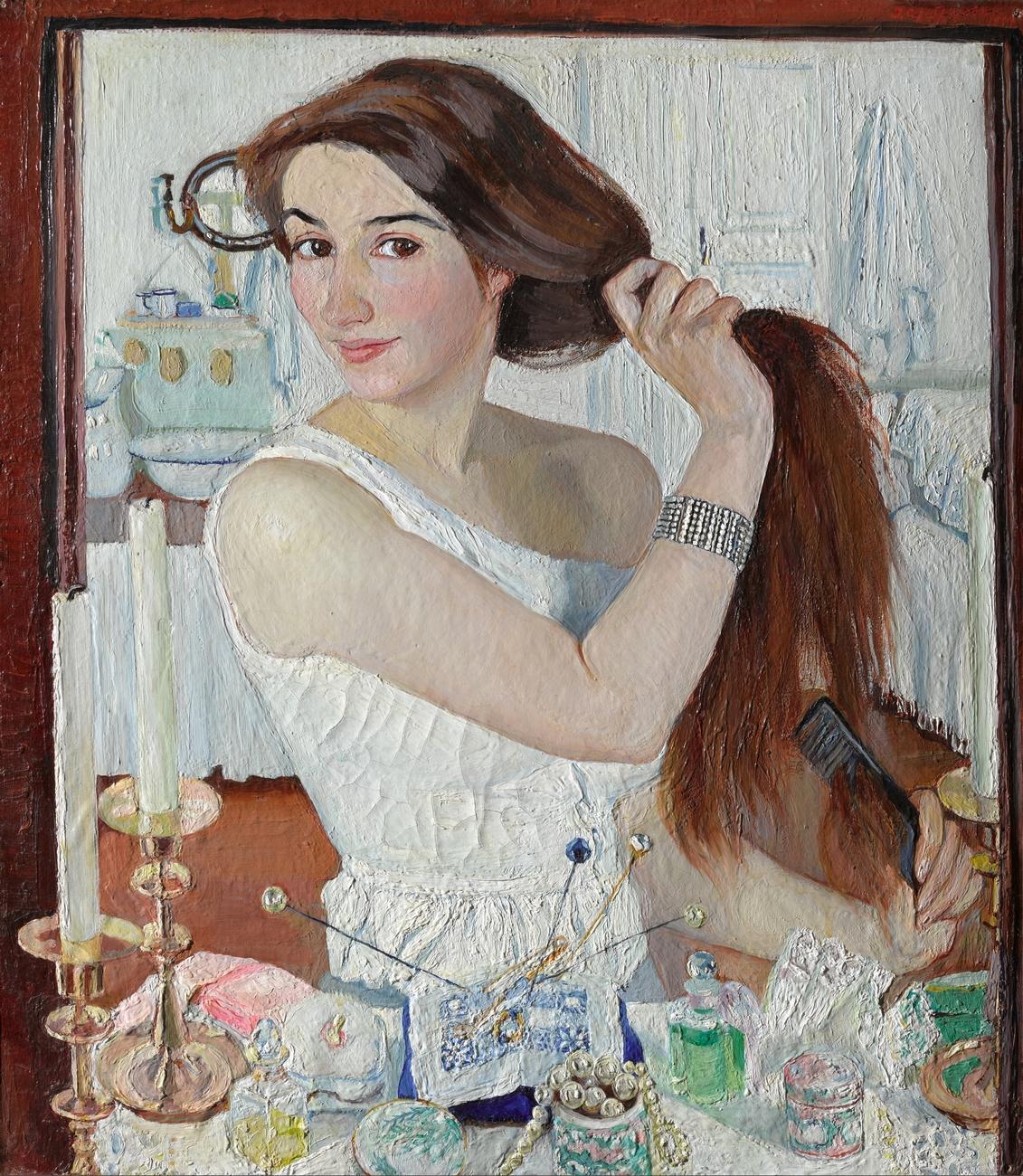 Зинаида Серебрякова. «За туалетом. Автопортрет», 1909