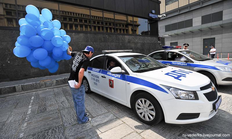 «Синие ведерки» поздравили ГИБДД с юбилеем