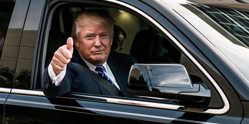 Золото и лошадиные силы: на чем ездит Дональд Трамп