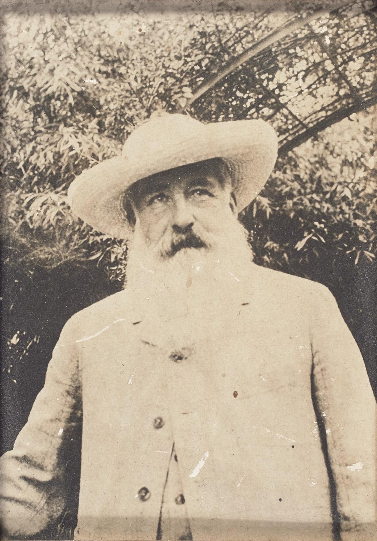 Фотография Саши Гитри. «Клод Моне». Живерни, 1915