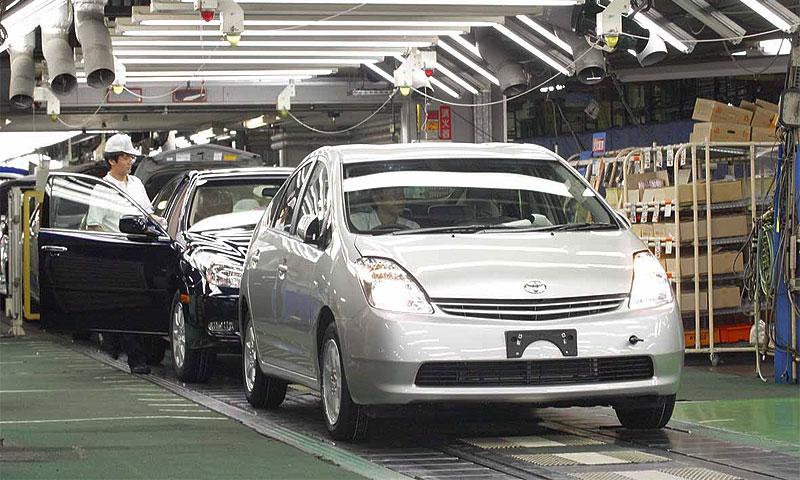 Япония увеличила производство автомобилей на 75%, экспорт – на 80%