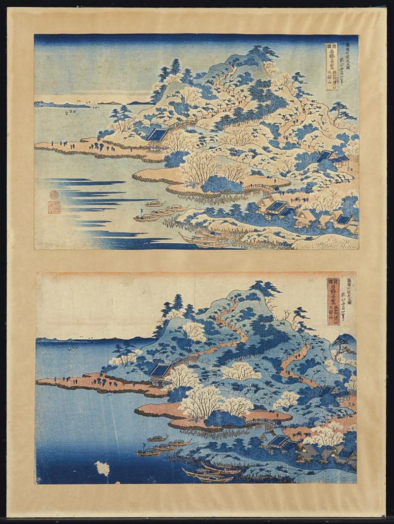 Две гравюры Кацусики Хокусая, принадлежавшие Клоду Моне