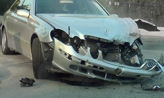 Автомобиль из Белоруссии неудачно подрезал машину помощника президента РФ