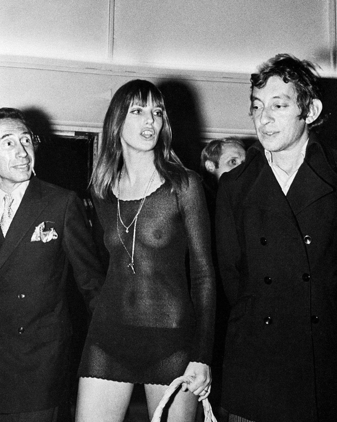 Джейн Биркин и Серж Генсбур на премьере фильма «Слоган» в Париже, 1969