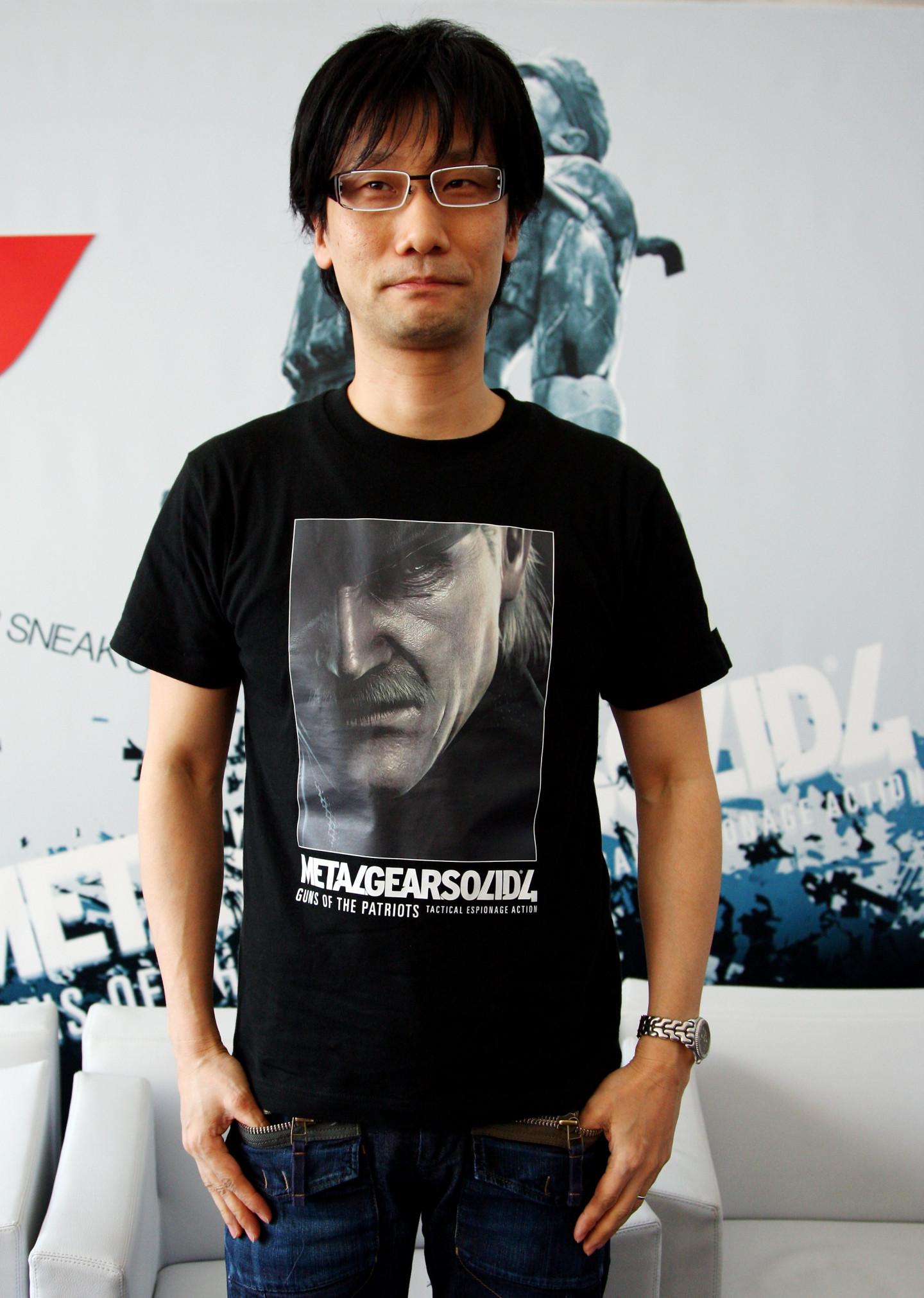 Хидэо Кодзима на презентации игрыMetal Gear Solid 4: Guns of The Patriots в Милане. 2008 год