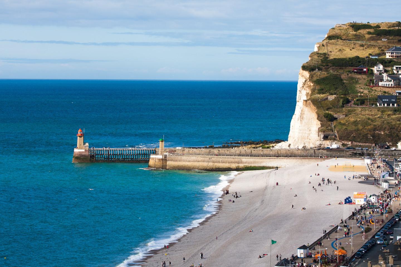 Пляж в Фекане (регион Нормандия), Франция