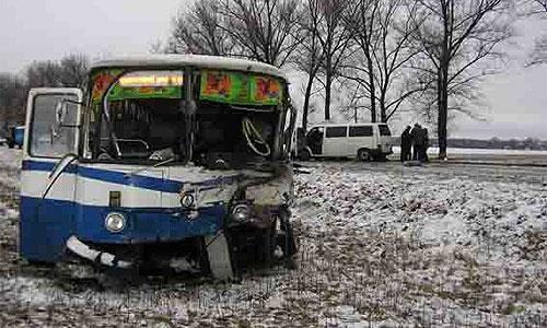 Под Выборгом школьный автобус попал в ДТП