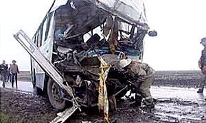 В Белгороде КАМАЗ протаранил автобус