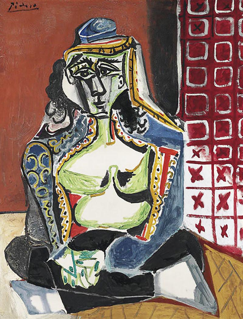 Пабло Пикассо. «Сидящая женщина в турецком костюме (Жаклин)»