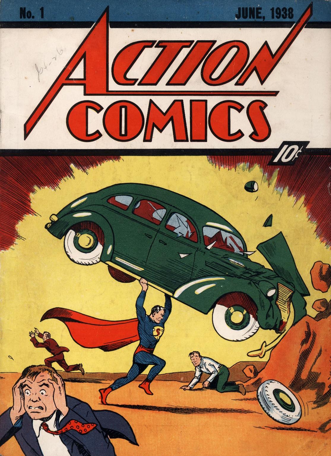 Обложка к первому изданию комикса Action Comics № 1