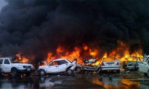 В автосервисе на Ленинградском шоссе сгорели шесть автомобилей