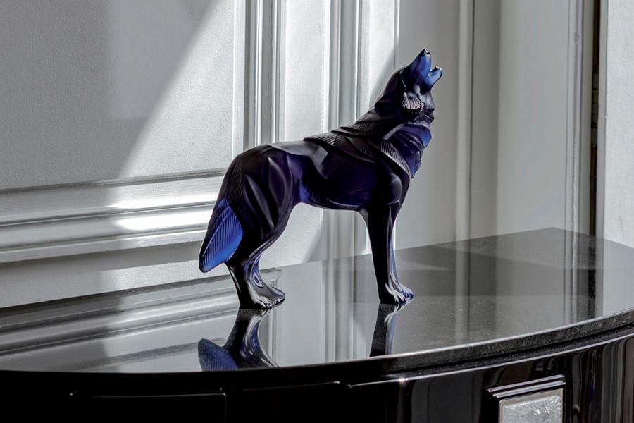 Скульптура «Волк», синий хрусталь, 26 см, 100 экземпляров, Lalique. Скоро в продаже