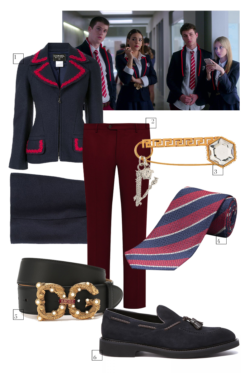 1. Женскийкостюм Chanel Pre-Owned, 90492 руб. (farfetch.com) 2. Мужские брюки Andrea Campagna, 29950 руб. (ЦУМ) 3. Брошь Versace, 26900 руб. (ЦУМ) 4. Галстук Henderson, 2499 руб. (Henderson) 5. Женскийремень Dolce & Gabbana, 48950 руб. («Барвиха Luxury Village») 6. Мужские лоферы Doucal's, 33490 руб. (No One)