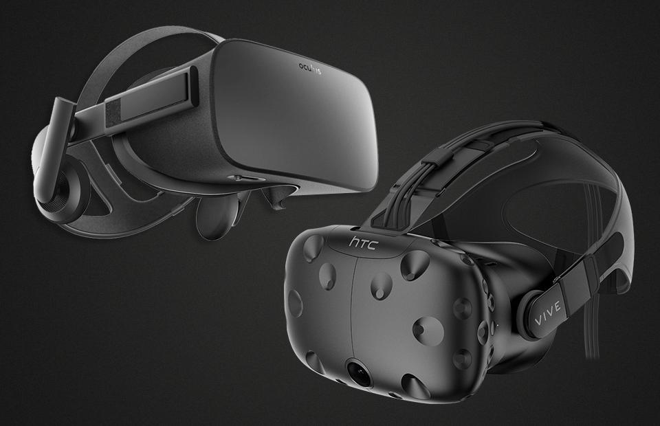 Фото: Oculus Rift, HTC Vive
