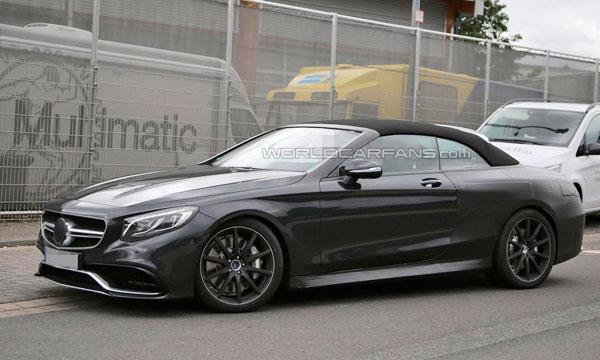 Кабриолет Mercedes S63 AMG замечен без камуфляжа