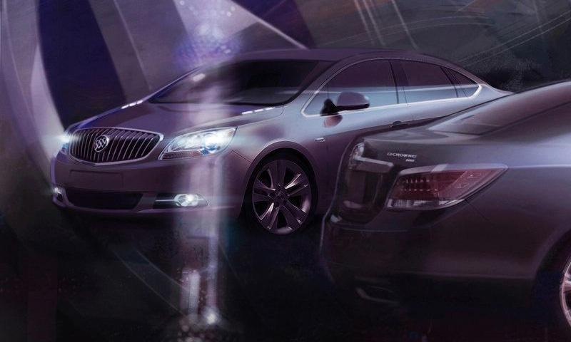 GM опубликовал первые скетчи нового седана Buick
