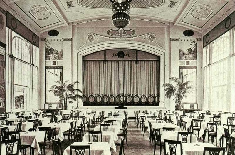 Летний зал ресторана «Яръ». Москва, 1910
