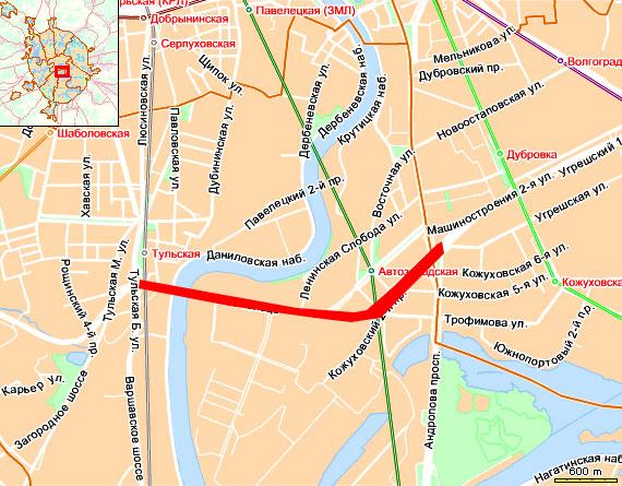 3 кольцо – от Большой Тульской улицы до проспекта Андропова
