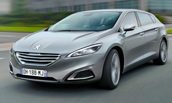 Флагман Peugeot станет конкурентом Mercedes R-Class и CLS Shooting Brake