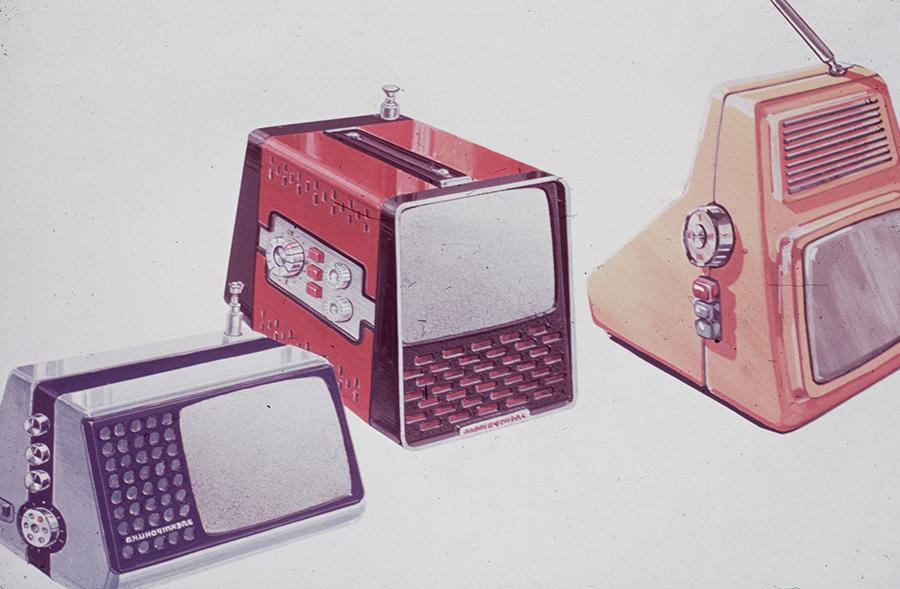 Портативные телевизоры. 1980-е