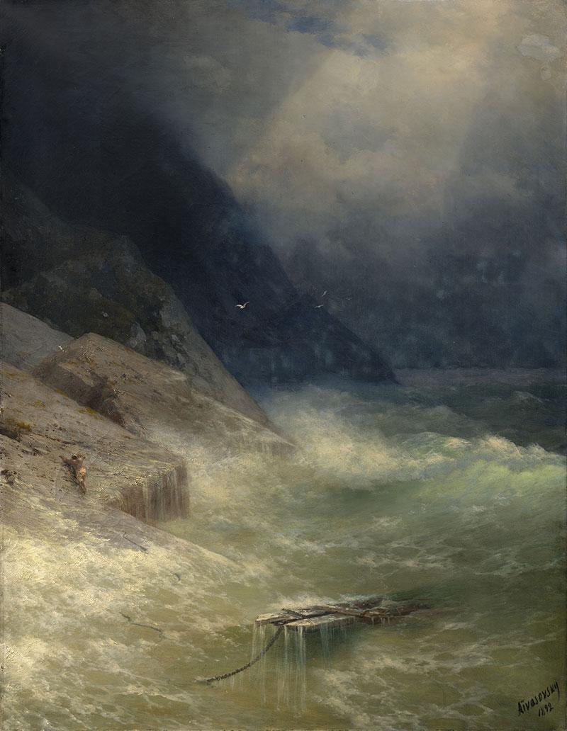 Иван Айвазовский. «Спасшийся», 1892 г.