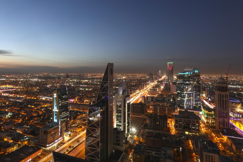 Вид на ночной Эр-Рияд