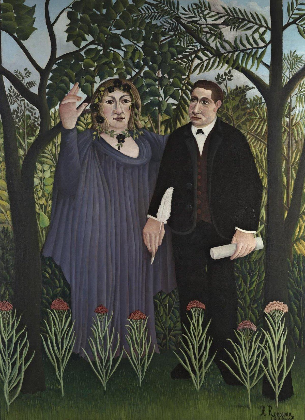 Анри Руссо. «Муза, вдохновляющая поэта», 1909