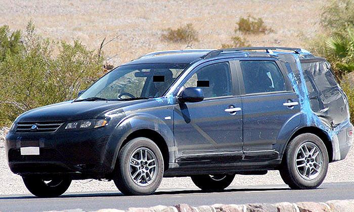 Mitsubishi Outlander тестируется в строгой секретности