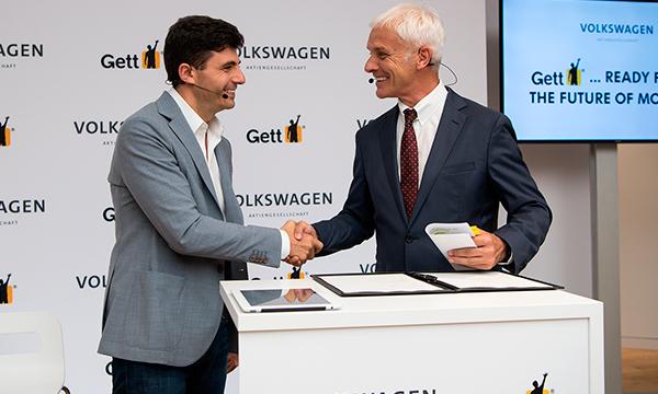 Volkswagen и Gett решили создать приложение для такси премиум-класса