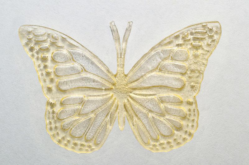 Бабочка, напечатанная с помощью растительного масла