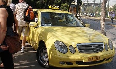 Забастовка таксистов парализовала Афины