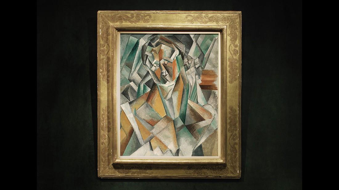 Картина Пабло Пикассо «Сидящая женщина»