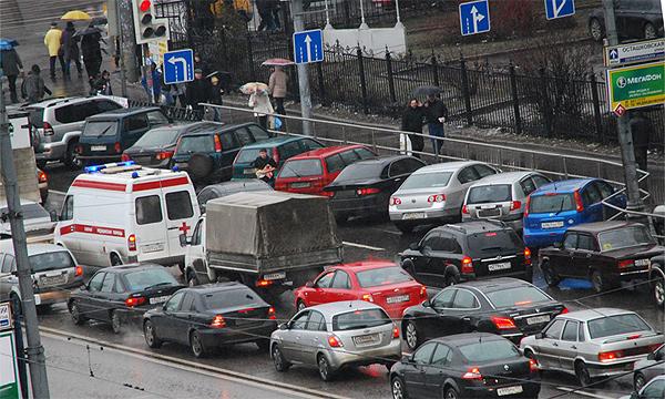 В Москве придумали новый метод борьбы с пробками