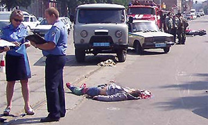 В Новосибирске пешехода сбили сразу три автомобиля