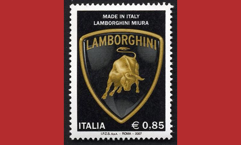 Lamborghini Miura увековечили на марке